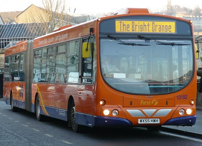 The Existing Service - The 18/418 - The Bright Orange Bus, provided by First