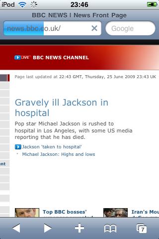 jackson gravely ill