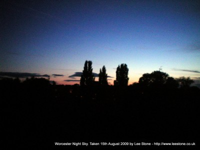 Worcester Night Sky
